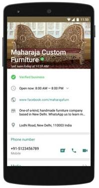 WhatsApp Business Varified Profile Page