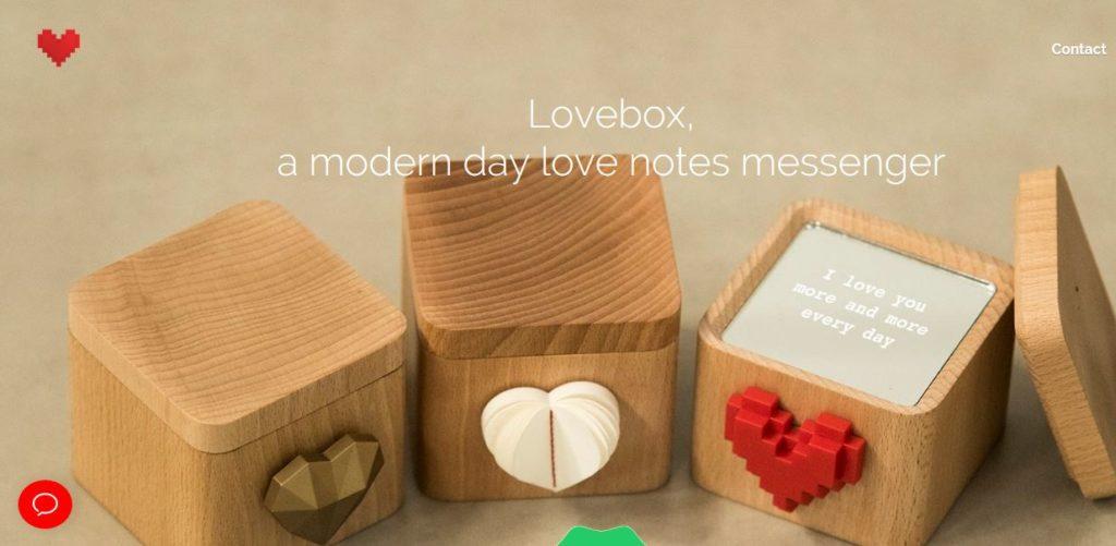 Lovebox A modern day love note messenger