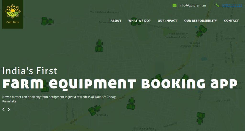 Online farm Equipment Renting & Booking Business Idea