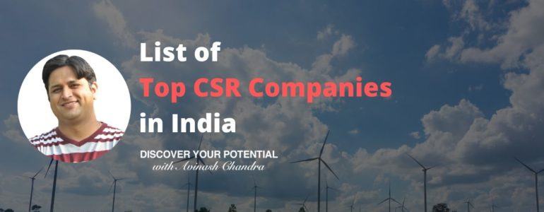 List of Top CSR Companies in India